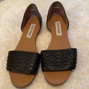 Steve madden black leather sandals TAYLERK  size 7